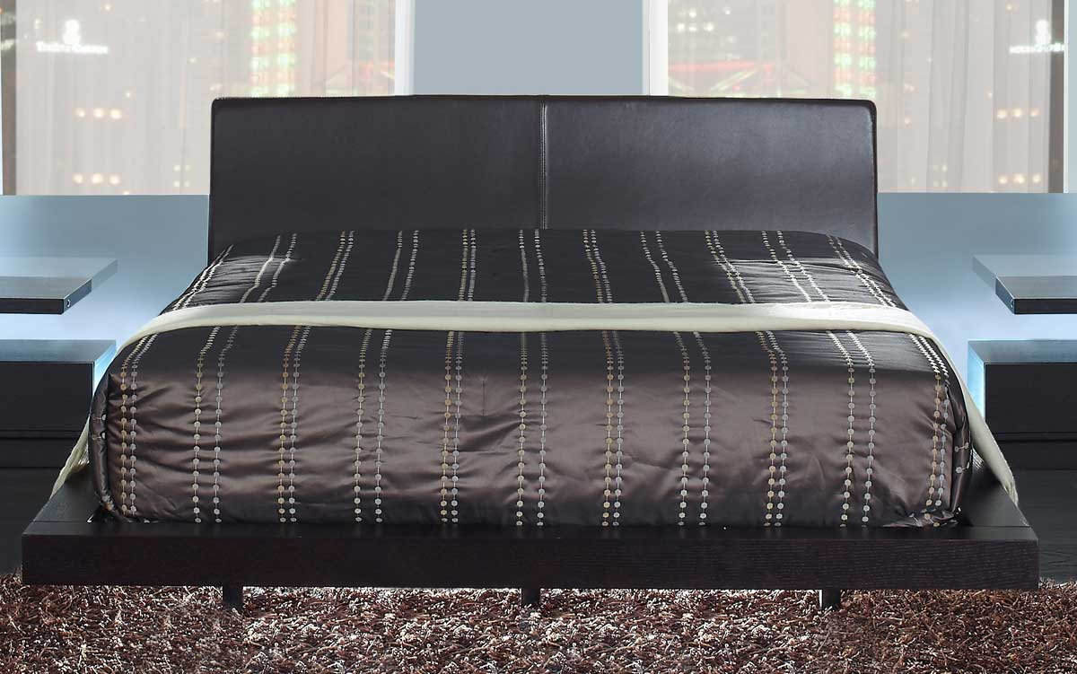 Global Furniture USA Miami Platform Bed - Wenge