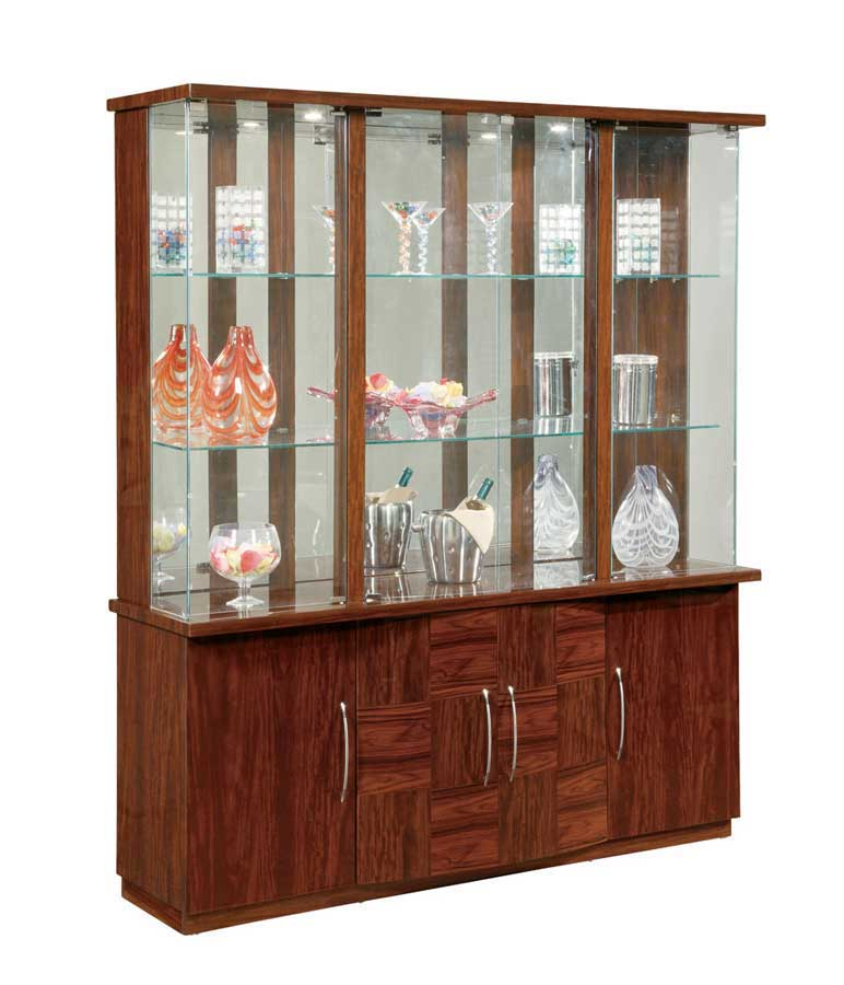 Global Furniture USA Nadia Vetrina Curio China Cabinet Mahogany