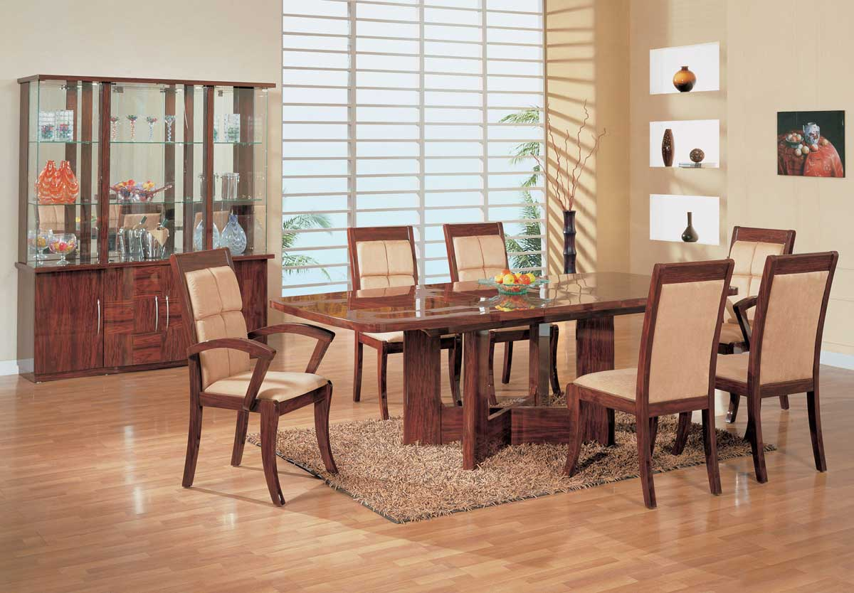 Global Furniture USA Nadia Dining Set-Mahogany
