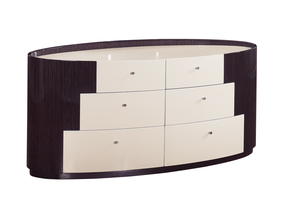 Global Furniture USA New York Dresser - Beige/Wenge