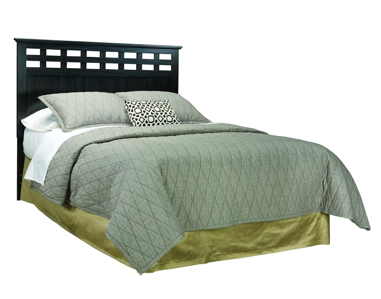 Global Furniture USA Olivia Bed - Engineered Wood/Oak Wood Graining Laminate - Black
