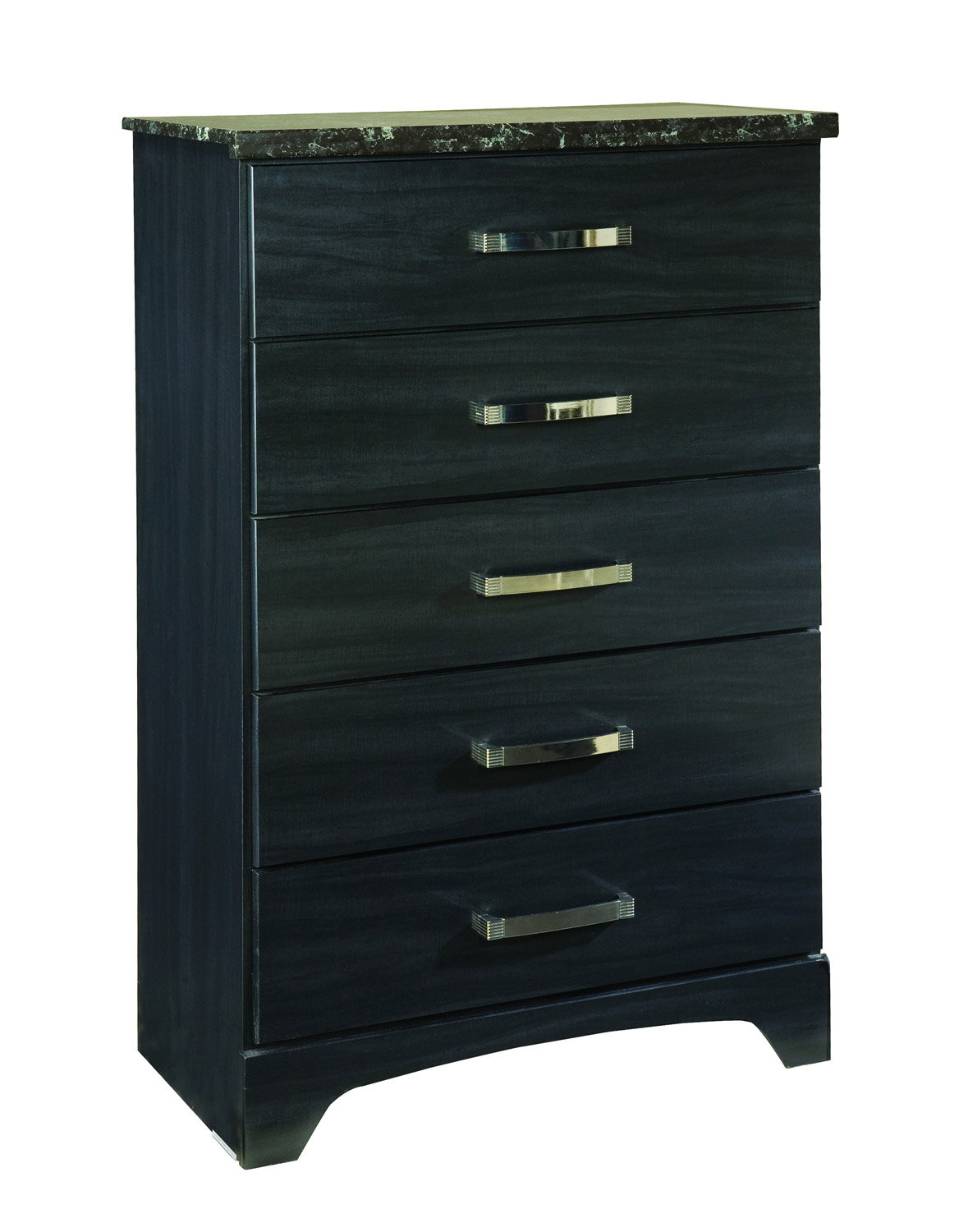 Global Furniture USA Olivia Chest - Engineered Wood/Oak Wood Graining Laminate - Black