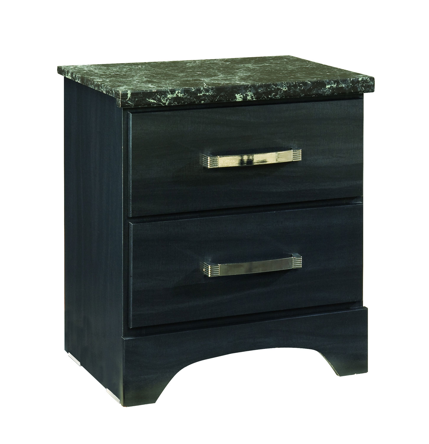 Global Furniture USA Olivia Nightstand - Engineered Wood/Oak Wood Graining Laminate - Black