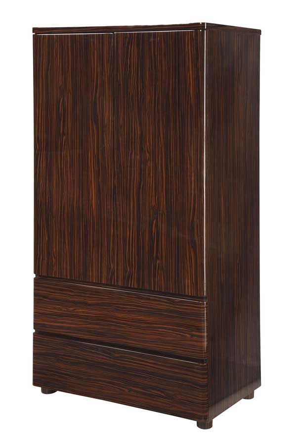 Global Furniture USA Rio Armoire-Dark Zebrano