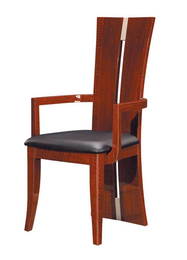Cheap Global Furniture USA Rosa Arm Chair – Black PVC with Burbenga