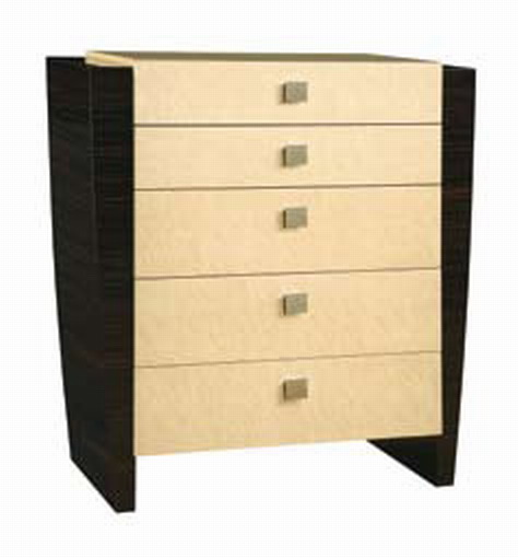 Global Furniture USA Simone Chest - Beige/Dark Mahogany
