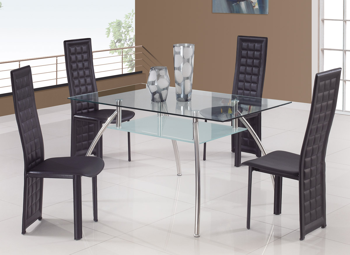 Global Furniture USA T14 Dining Set A - Black