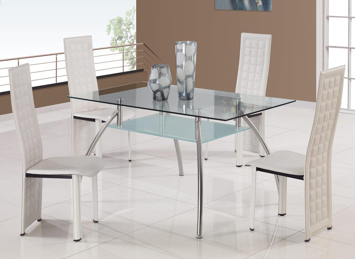 Global Furniture USA T14 Dining Set B - White