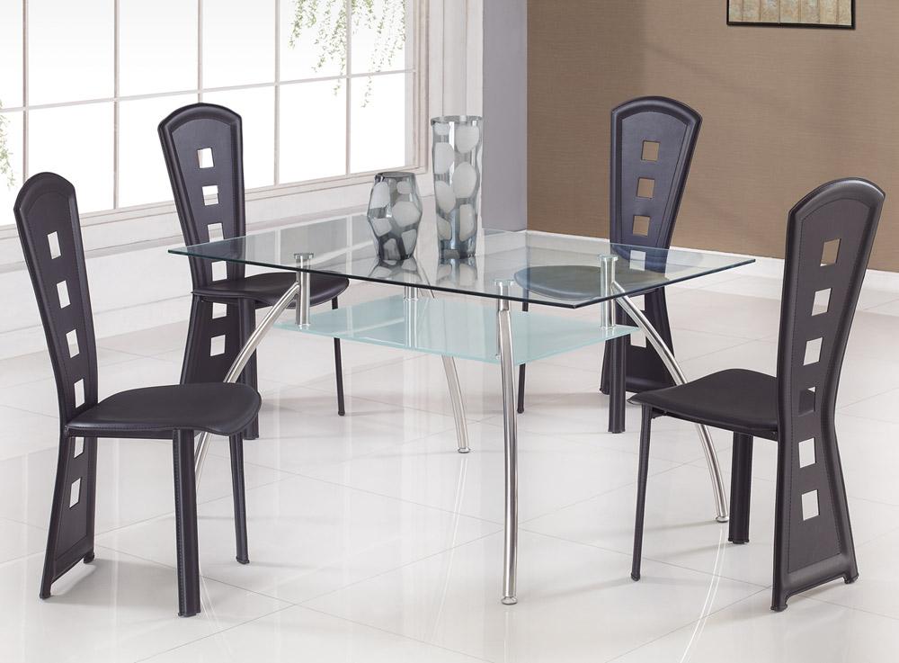 Global Furniture USA T14 Dining Set C - Black