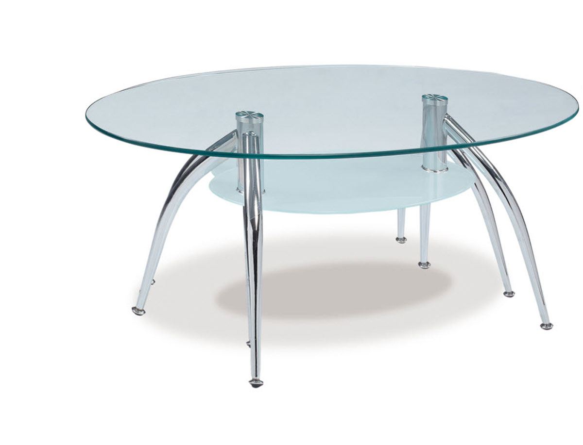 Global furniture usa 659 coffee table frosted glass metal legs gf t659ct at Frosted glass furniture
