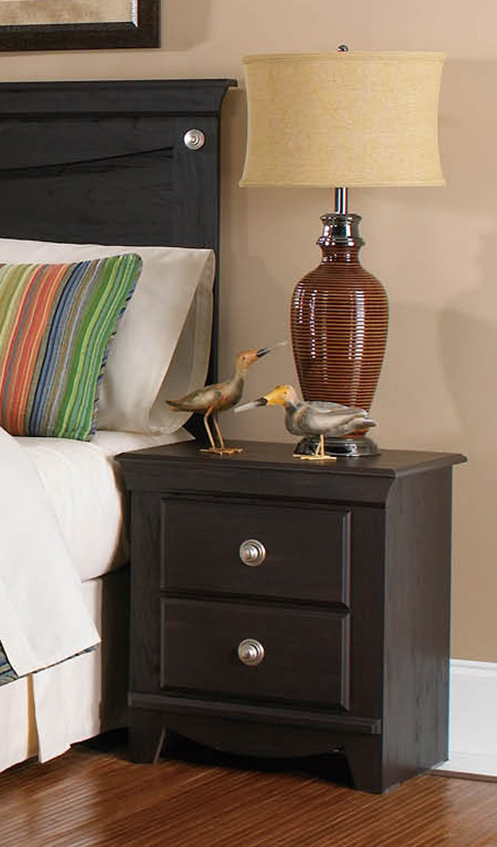 Global Furniture USA Taylor Nightstand - Engineered Wood/Wooly Pecan Graining Laminate - Dark Espresso