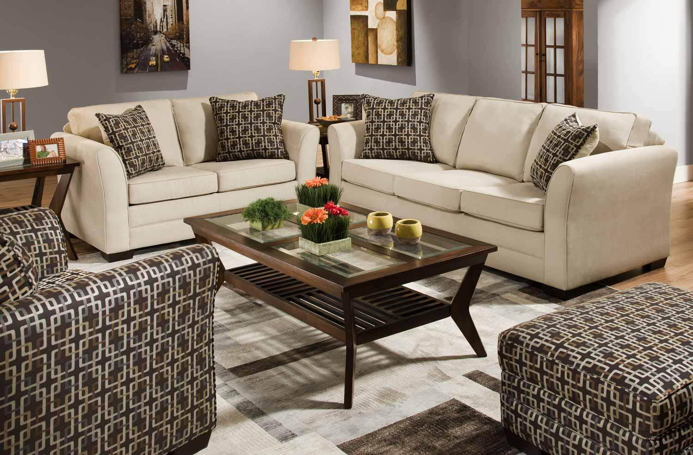 Global furniture usa 5149 sofa set soft cotton fabric cream gf u5149 sofa set at homelement com