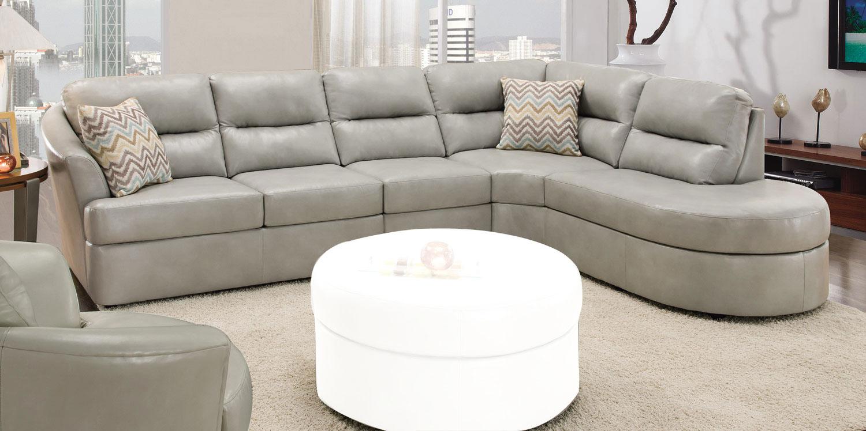 Aliexpress.com : Buy Large L shaped sofa white leather