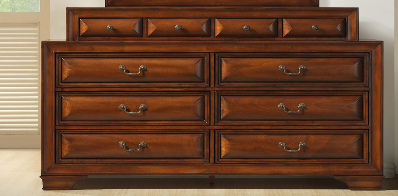 Global Furniture USA Veronica Dresser with Jewelry Box - Antique Oak