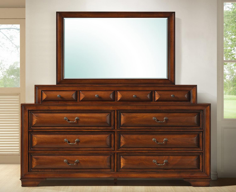 Global Furniture USA Veronica Mirror - Antique Oak