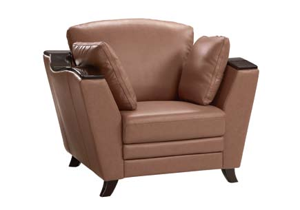 Global Furniture USA GF-A006 Chair - Tan Leather Match