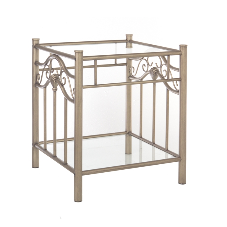 Fashion Bed Group Kensington Nightstand in Gold Frost