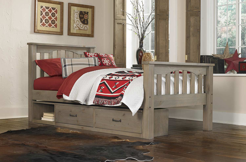 NE Kids Highlands Harper Bed With Storage - Driftwood