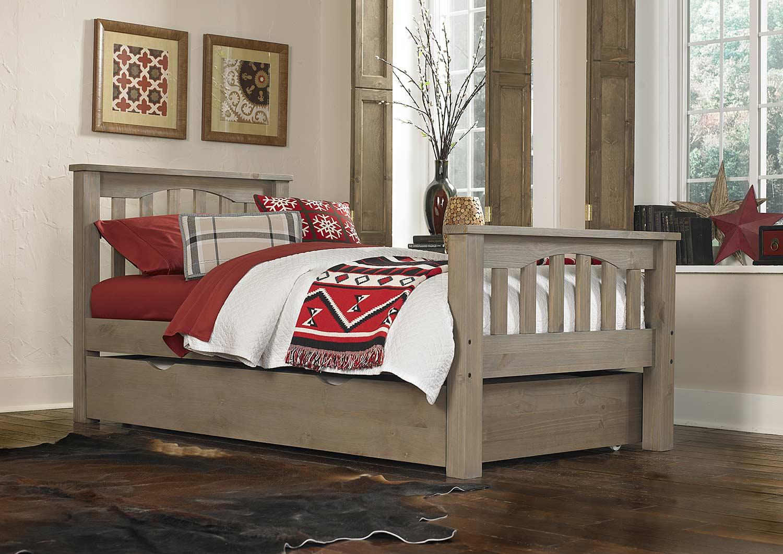 NE Kids Highlands Harper Bed With Trundle - Driftwood