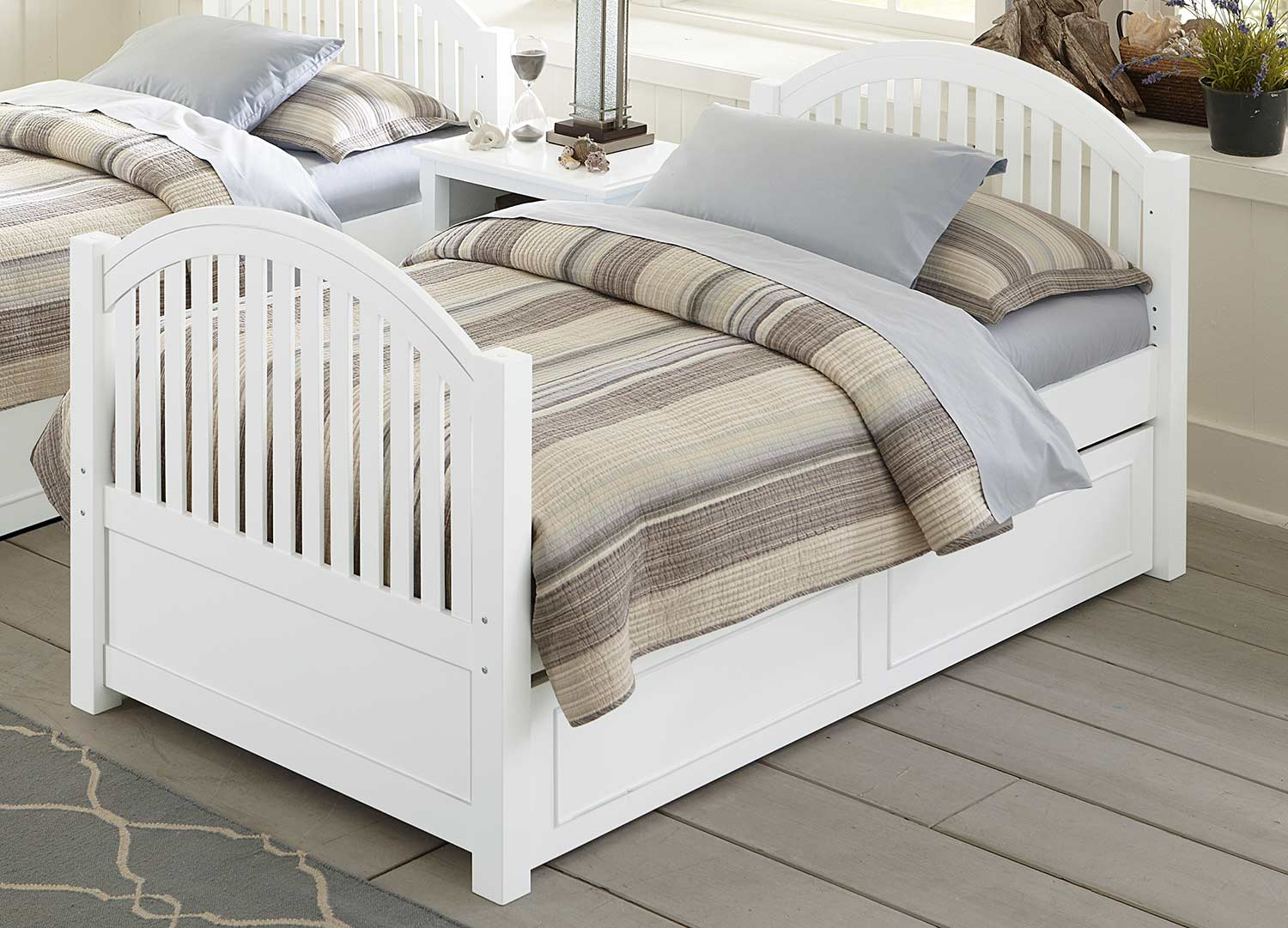 NE Kids Lake House Adrian Twin Bed With Trundle - White
