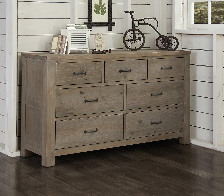 NE Kids Highlands 7 Drawer Dresser - Driftwood