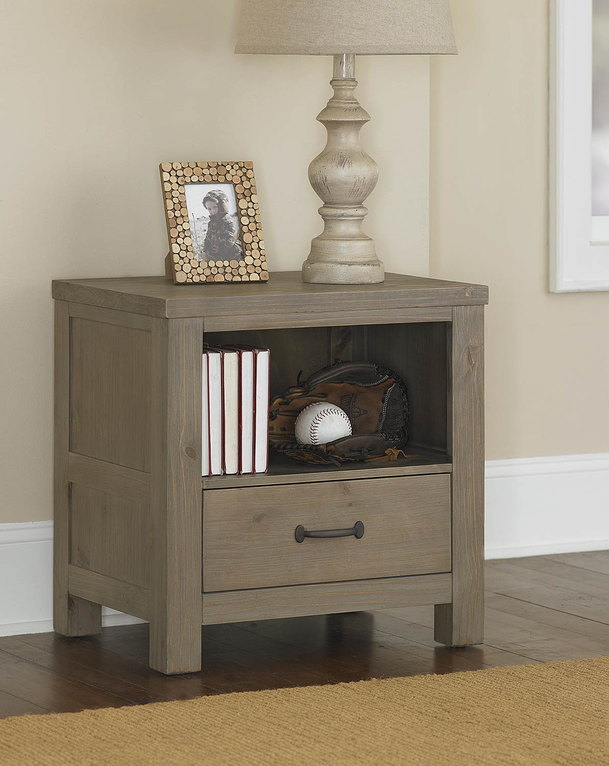 NE Kids Highlands Nightstand - Driftwood
