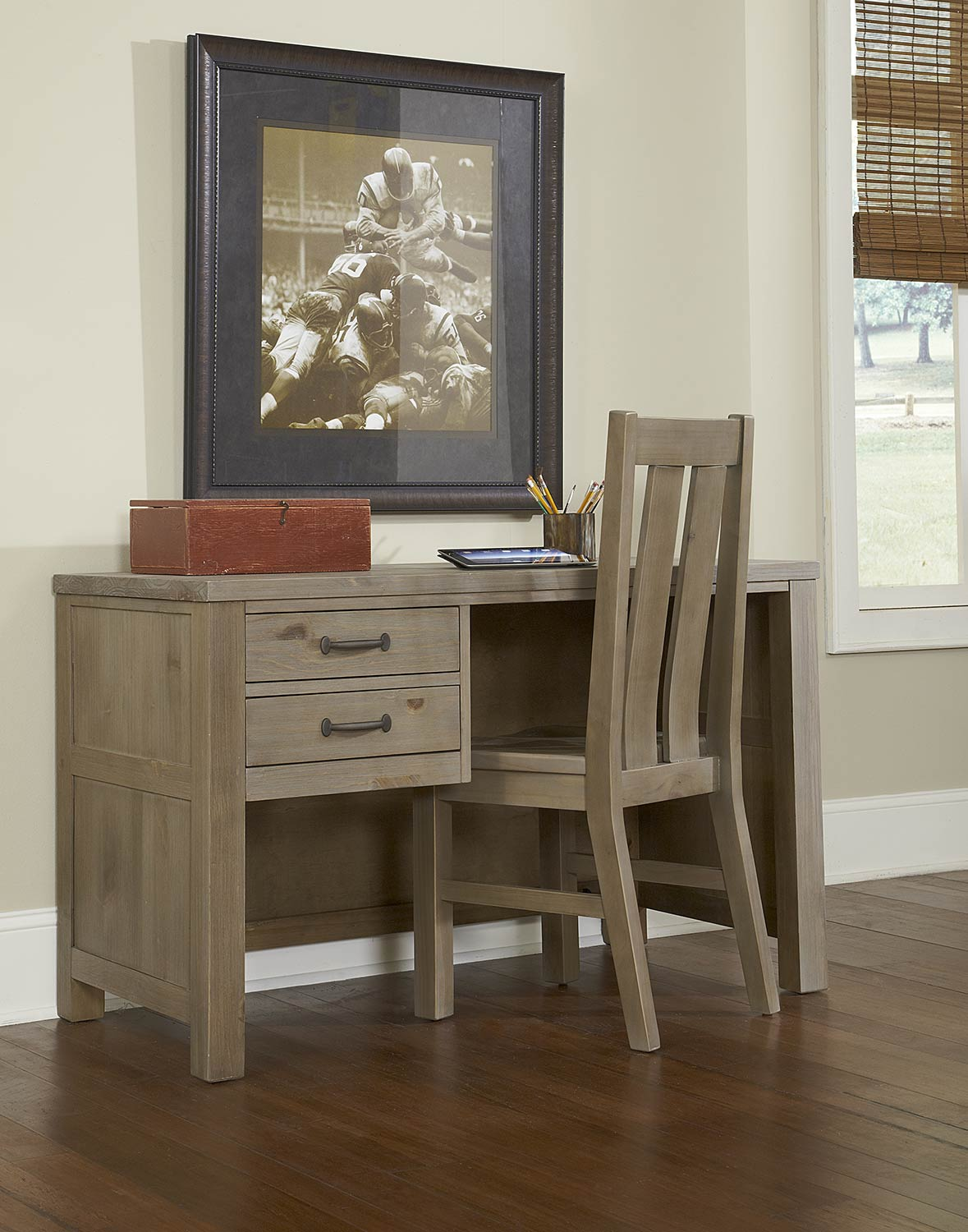 NE Kids Highlands Desk with Chair - Driftwood