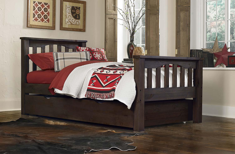 NE Kids Highlands Harper Bed With Trundle - Espresso