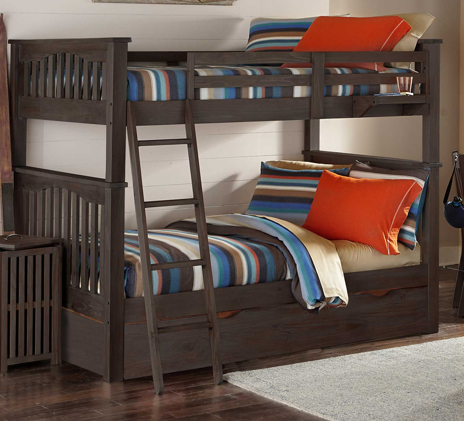 NE Kids Highlands Harper Full Over Full Bunk With Trundle - Espresso