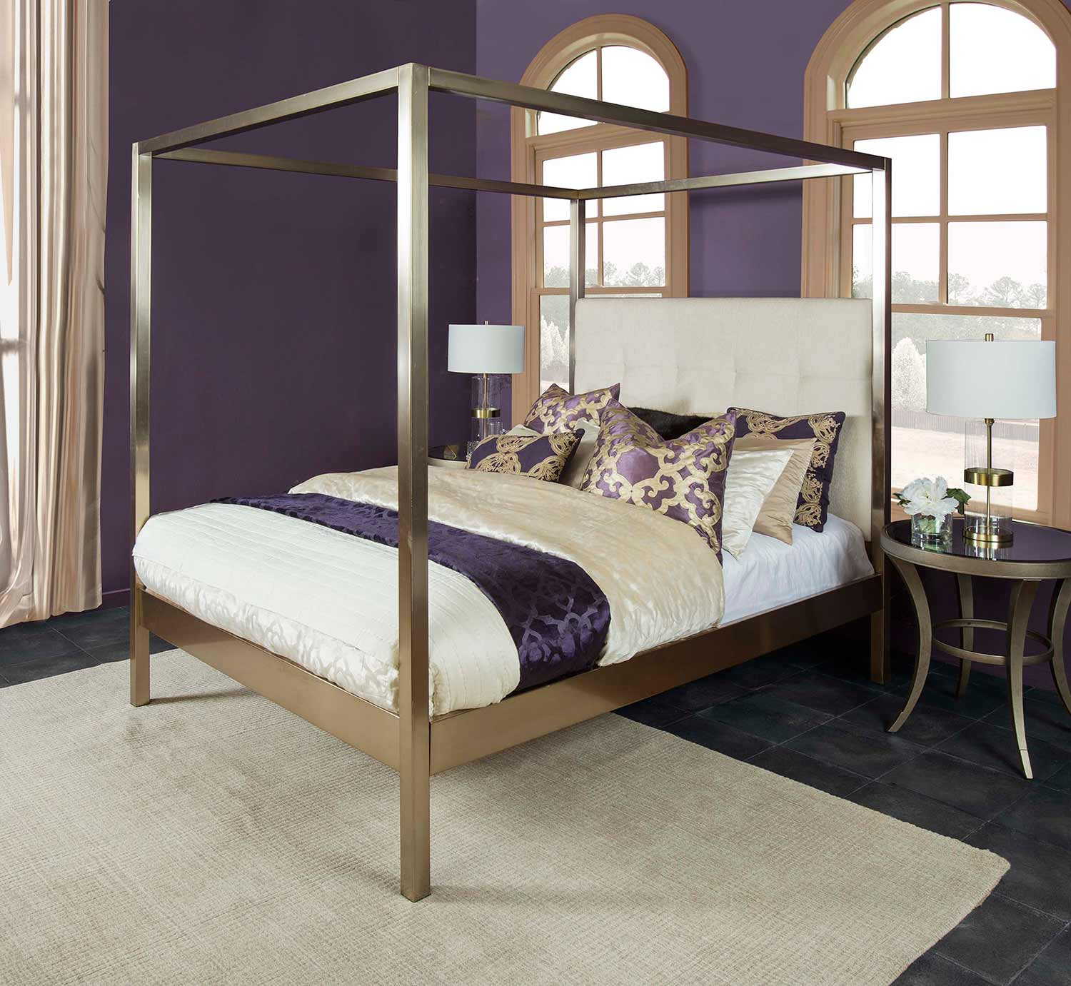Hillsdale Bombay Upholstered Bed - Linen Stone Fabric