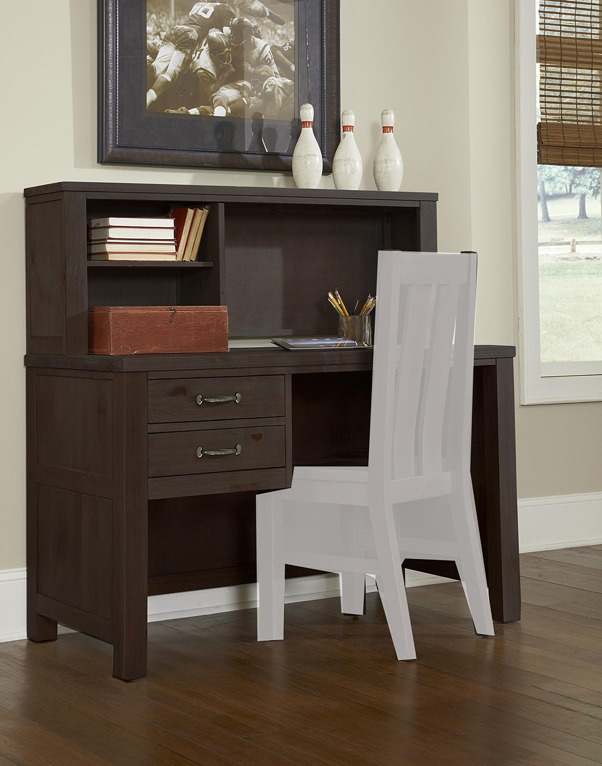 NE Kids Highlands Desk with Hutch - Espresso
