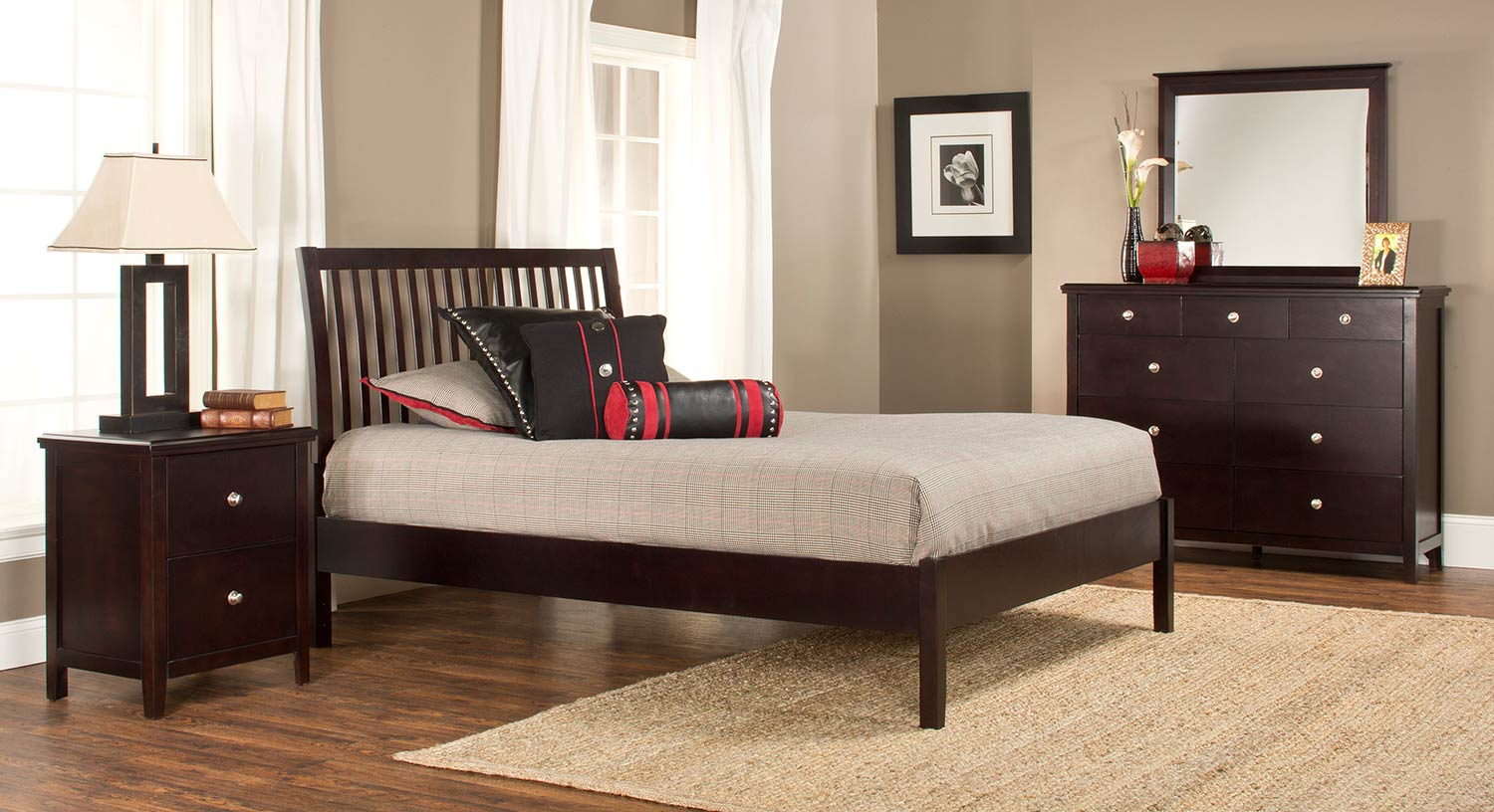 Hillsdale Metro Liza Platform Bedroom Collection - Dark Espresso
