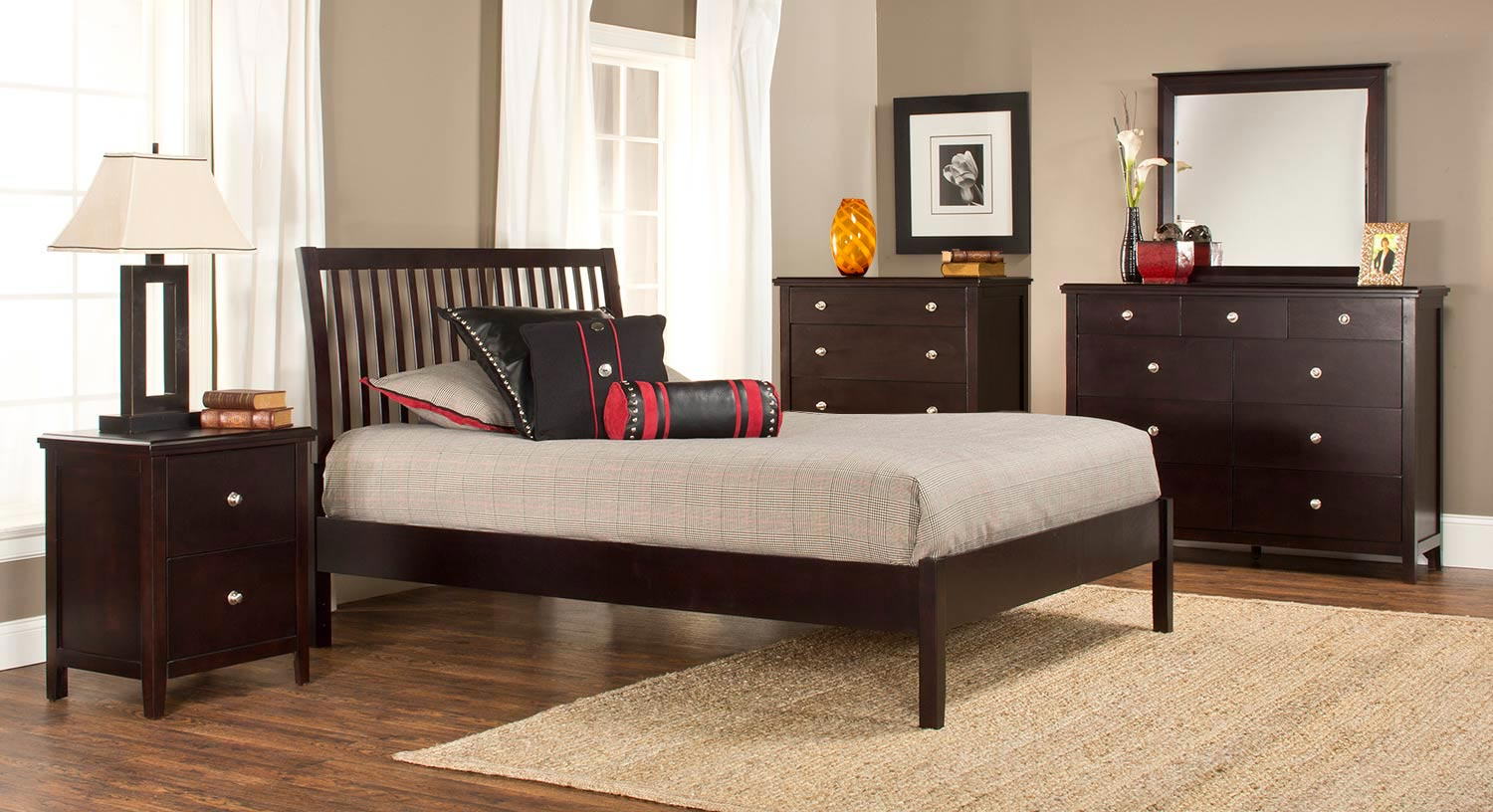 Hillsdale Metro Liza Platform 5-Piece Bedroom Collection - Dark Espresso
