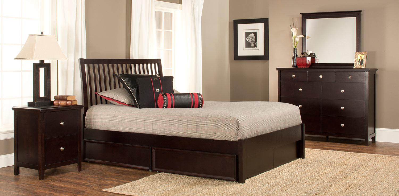 Hillsdale Metro Liza Storage Bedroom Collection - Dark Espresso