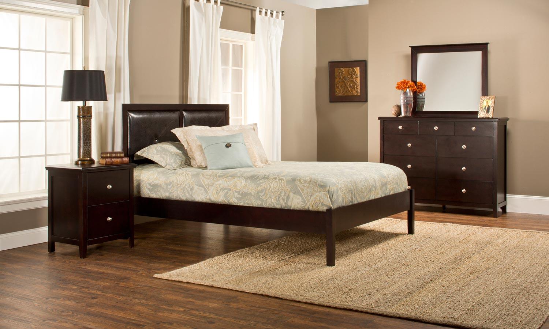 Hillsdale Metro Martin Platform 4-Piece Bedroom Collection - Dark Espresso