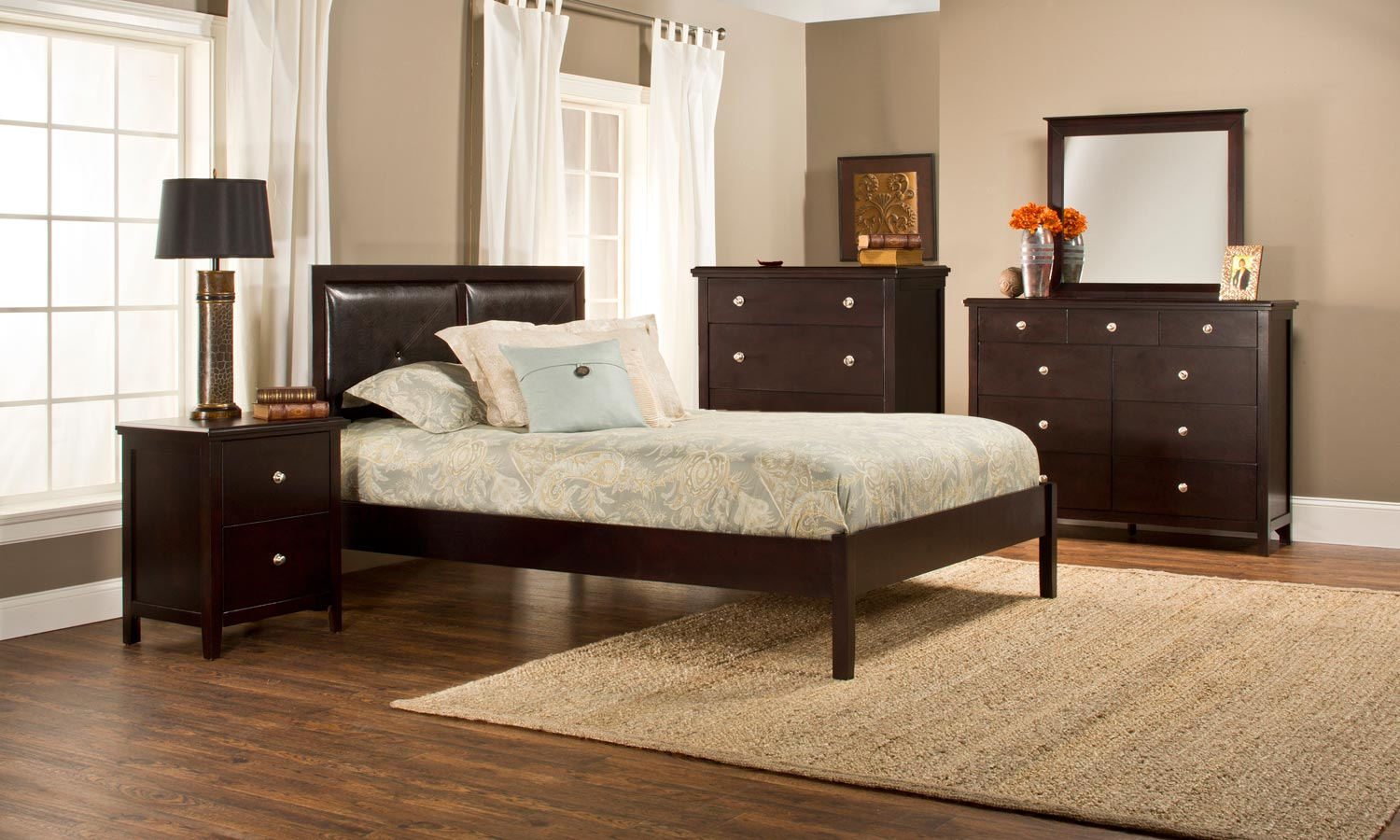 Hillsdale Metro Martin Platform 5-Piece Bedroom Collection - Dark Espresso