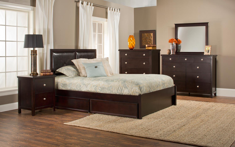 Hillsdale Metro Martin Storage 5-Piece Bedroom Collection - Dark Espresso