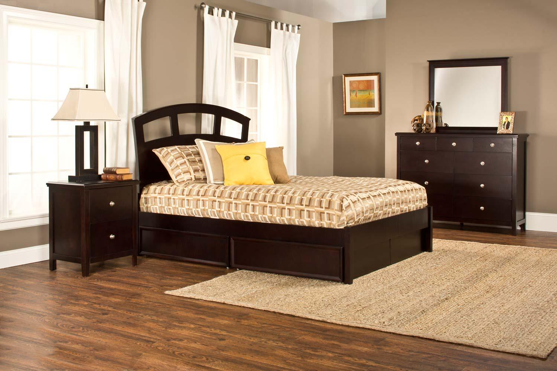 Hillsdale Metro Riva Storage 4-Piece Bedroom Collection - Dark Espresso