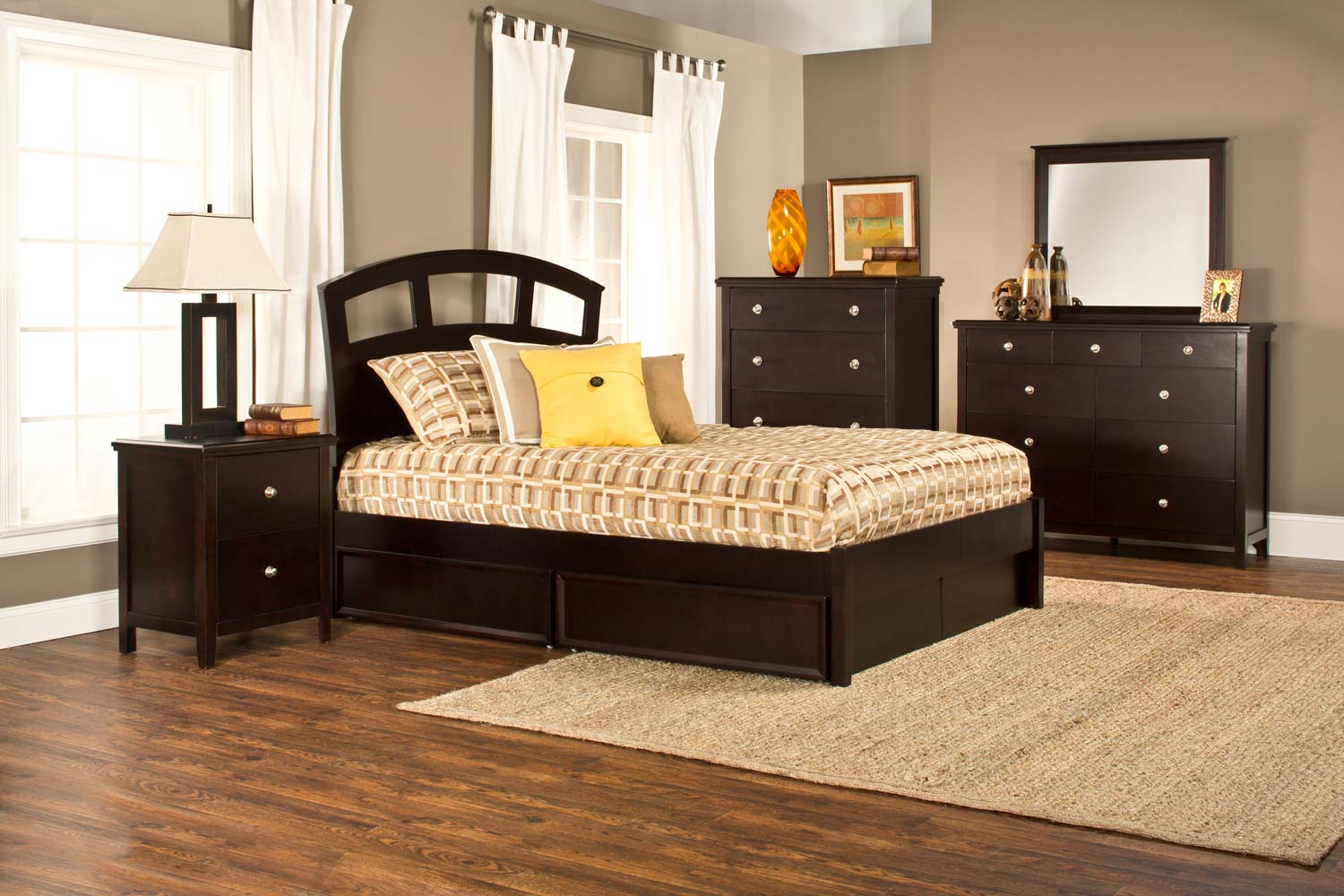 Hillsdale Metro Riva Storage 5-Piece Bedroom Collection - Dark Espresso