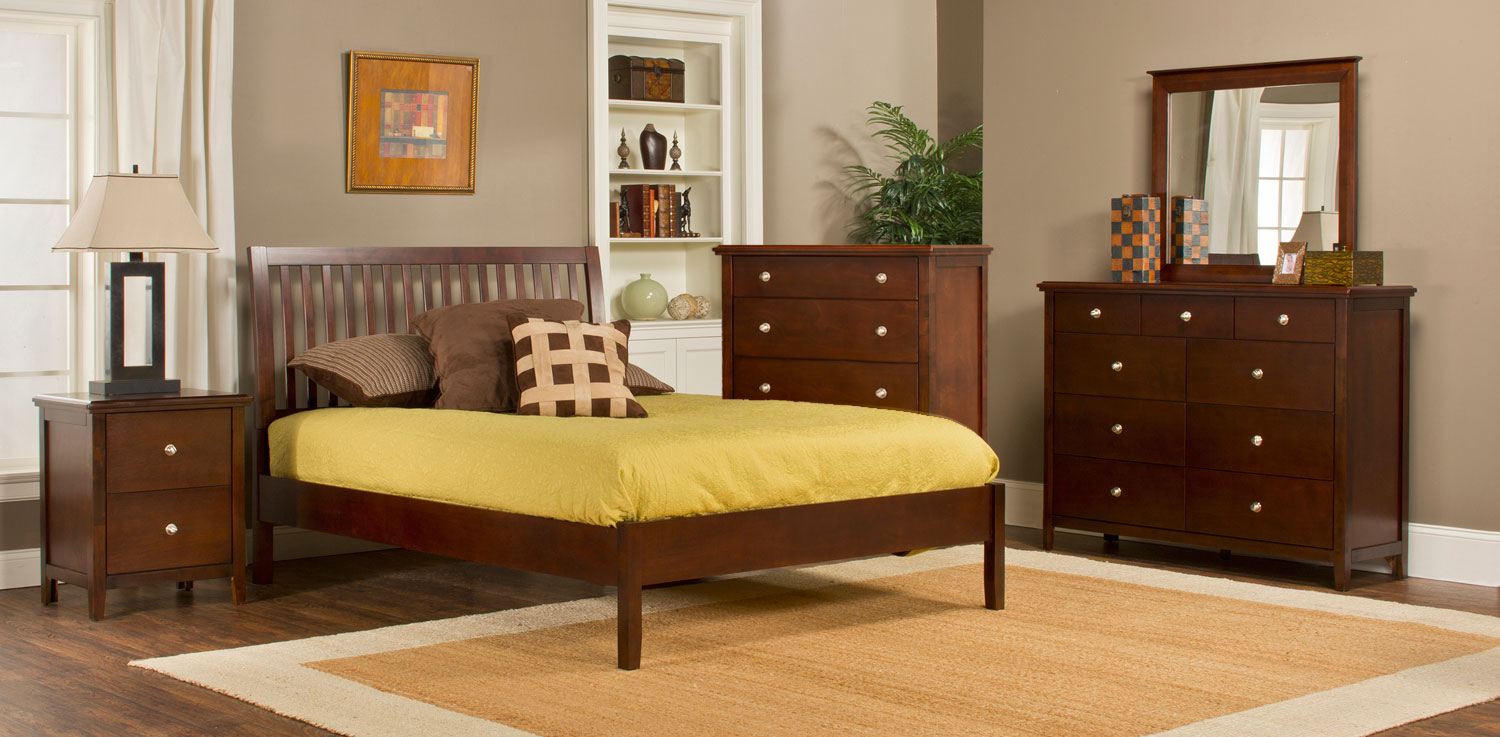 Hillsdale Metro Liza Platform 5-Piece Bedroom Collection - Cherry