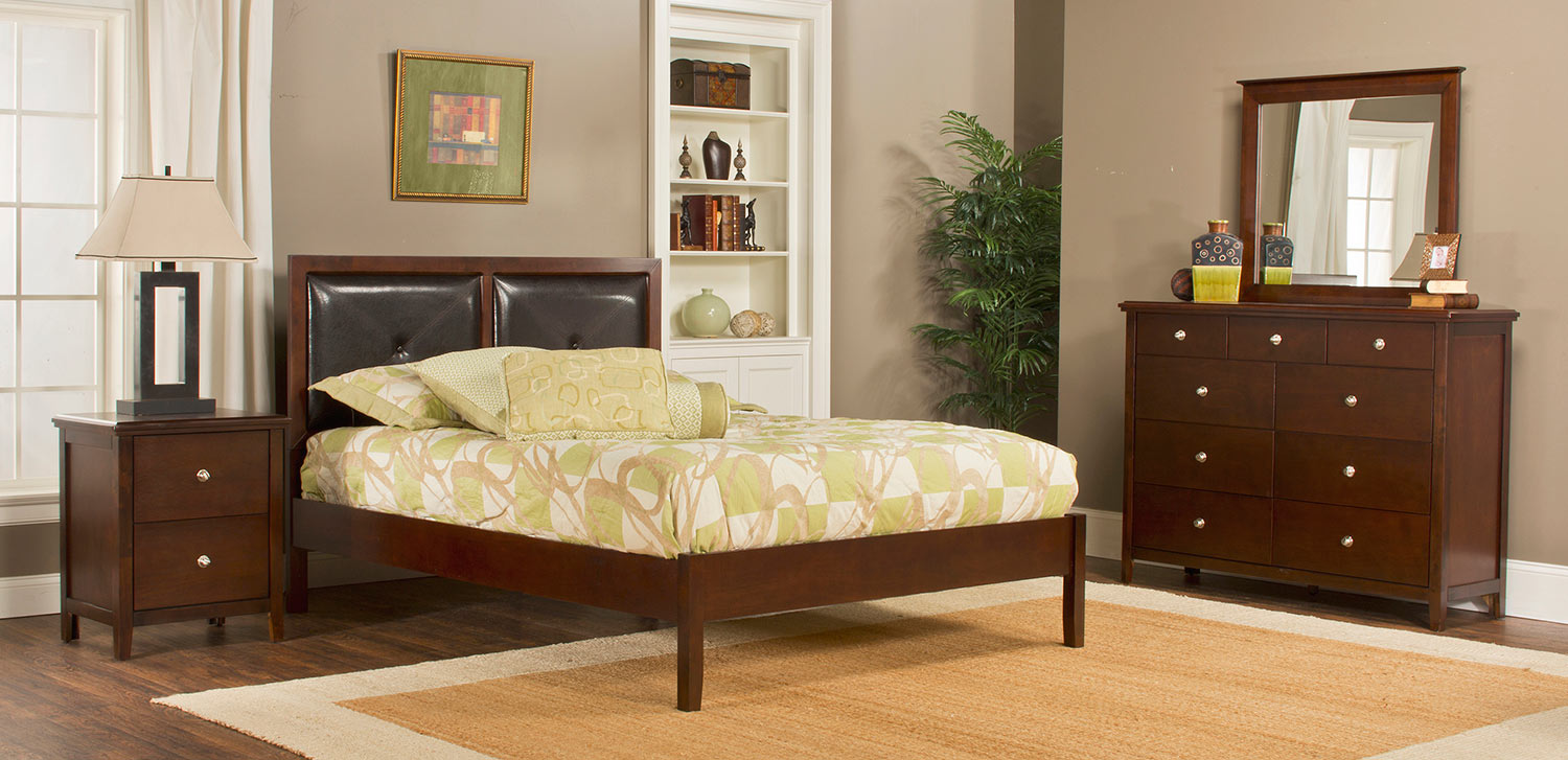 Hillsdale Metro Martin Platform Bedroom Collection - Cherry