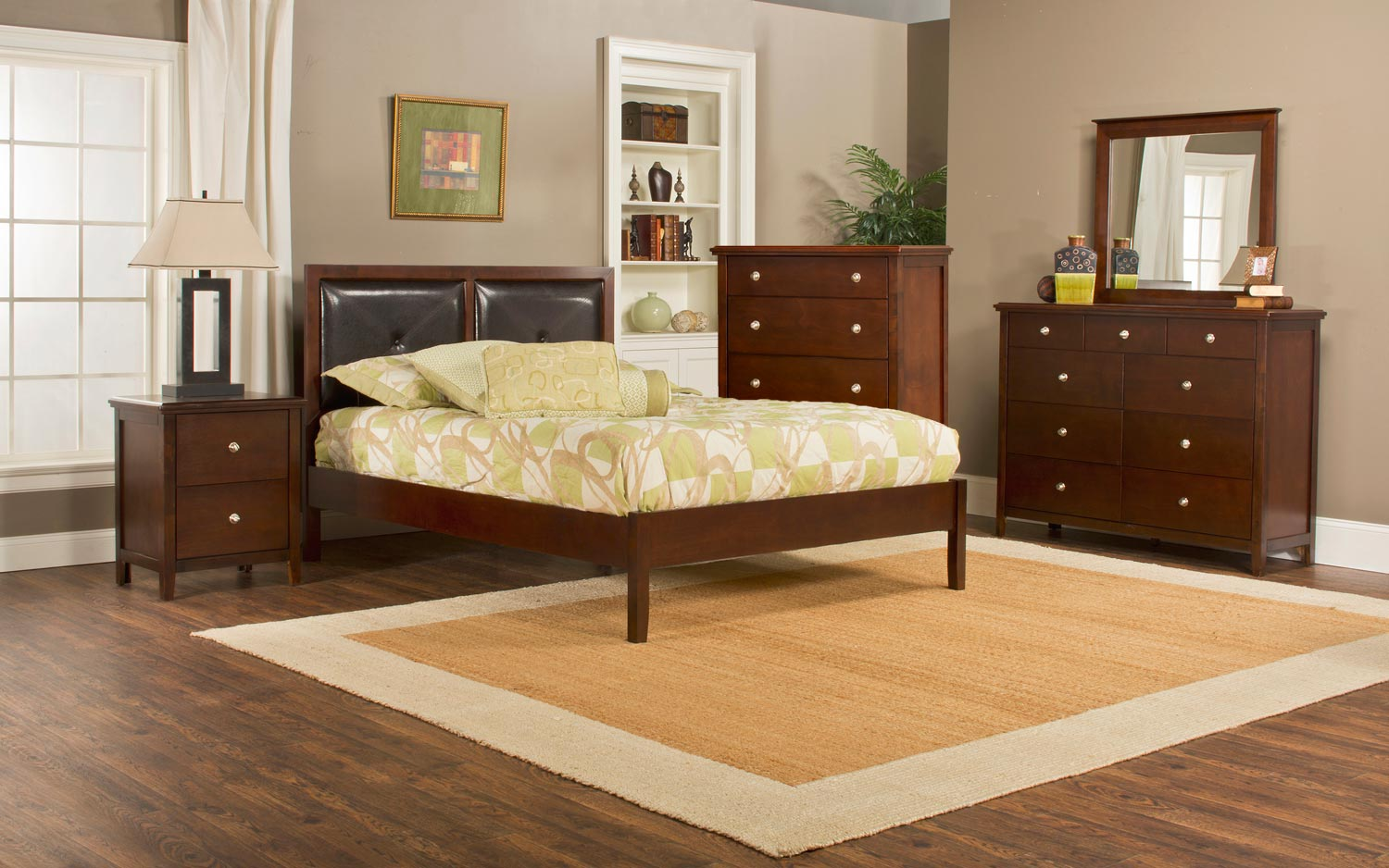 Hillsdale Metro Martin Platform 5-Piece Bedroom Collection - Cherry