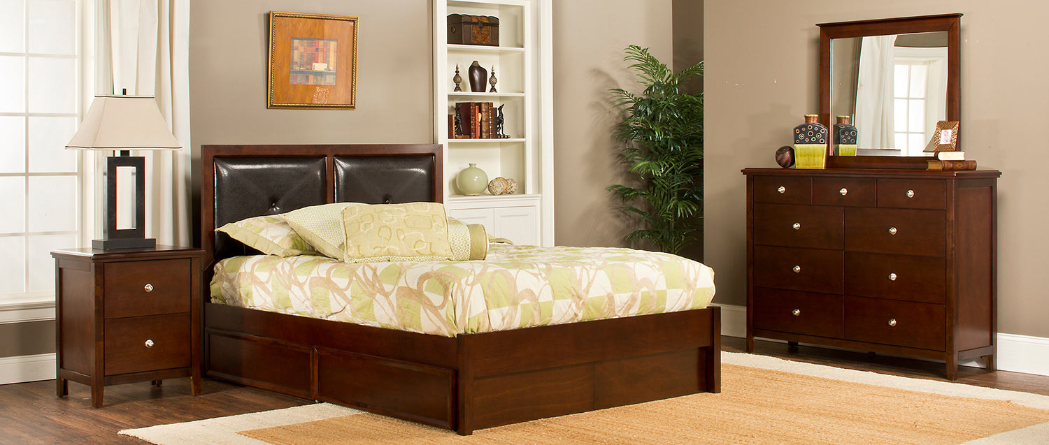 Hillsdale Metro Martin Storage Bedroom Collection - Cherry