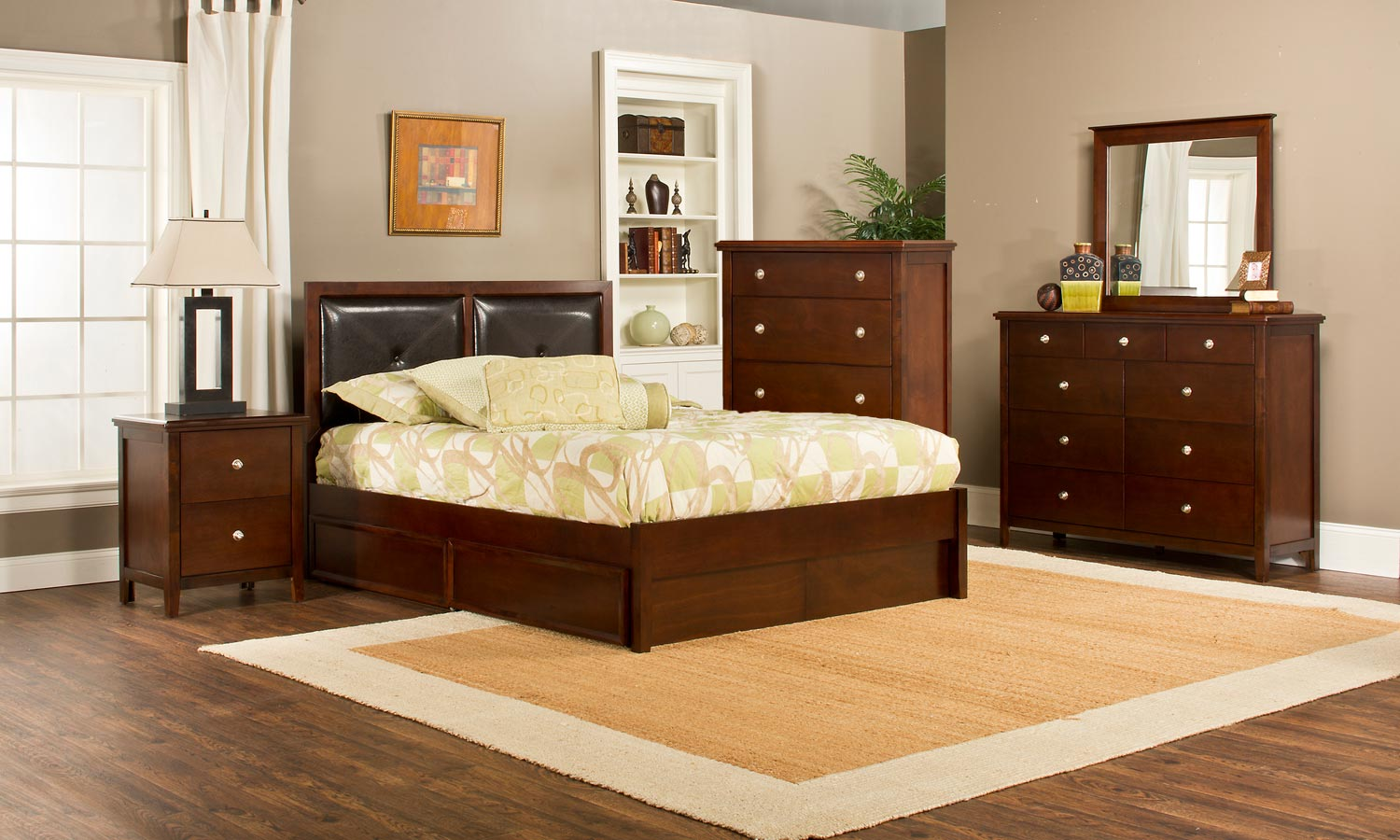 Hillsdale Metro Martin Storage 5-Piece Bedroom Collection - Cherry