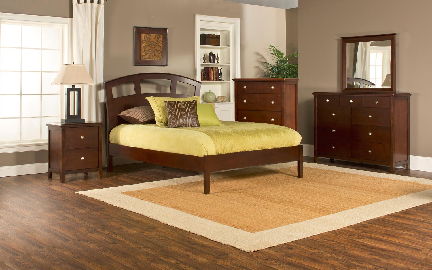 Hillsdale Metro Riva Platform 5-Piece Bedroom Collection - Cherry