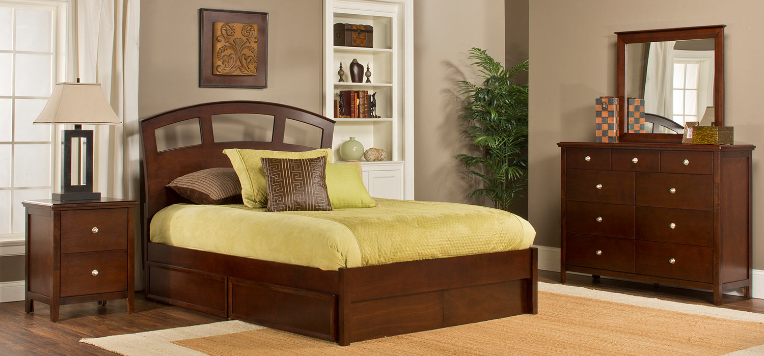 Hillsdale Metro Riva Storage Bedroom Collection - Cherry