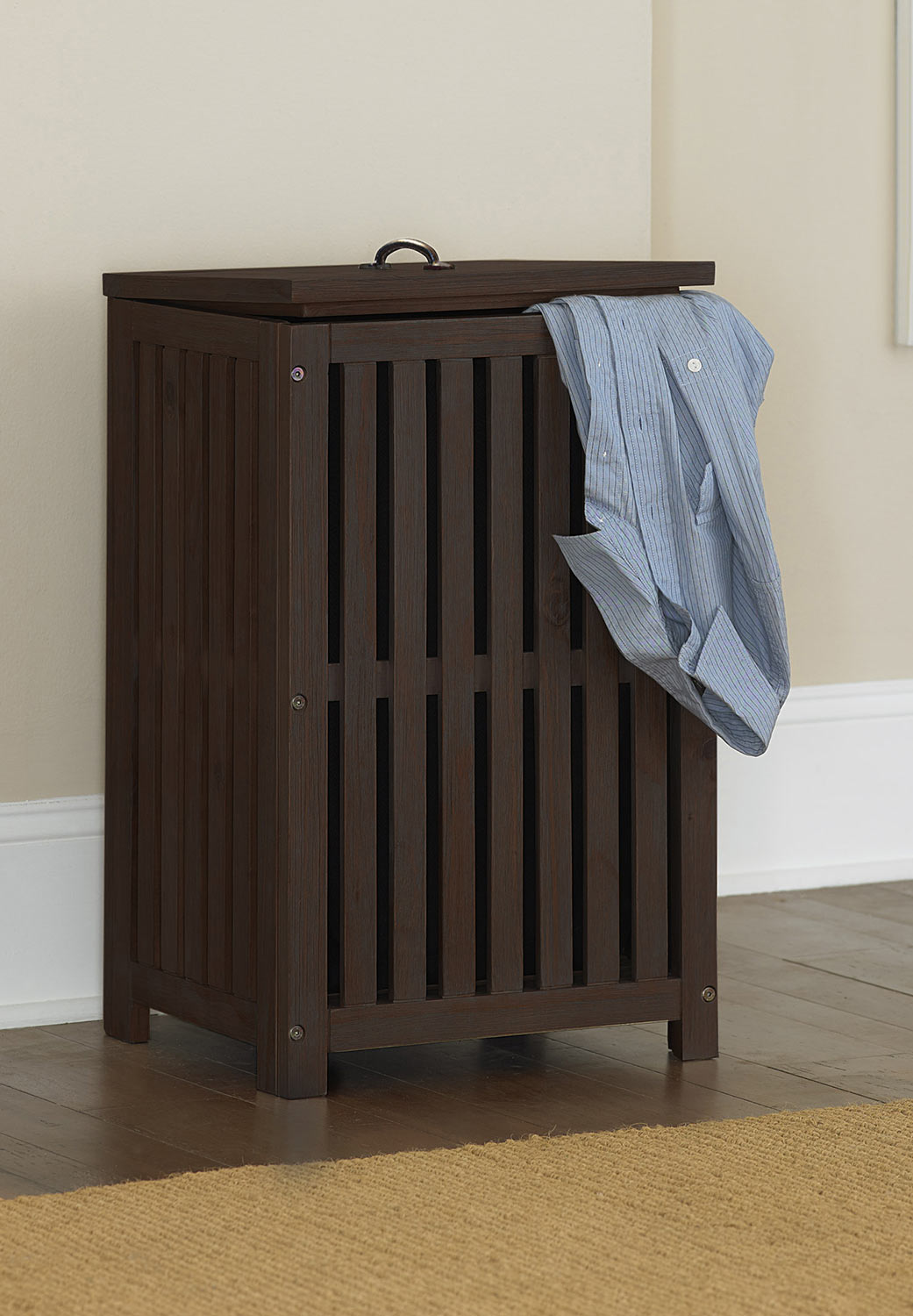 NE Kids Highlands Clothes Hamper - Espresso
