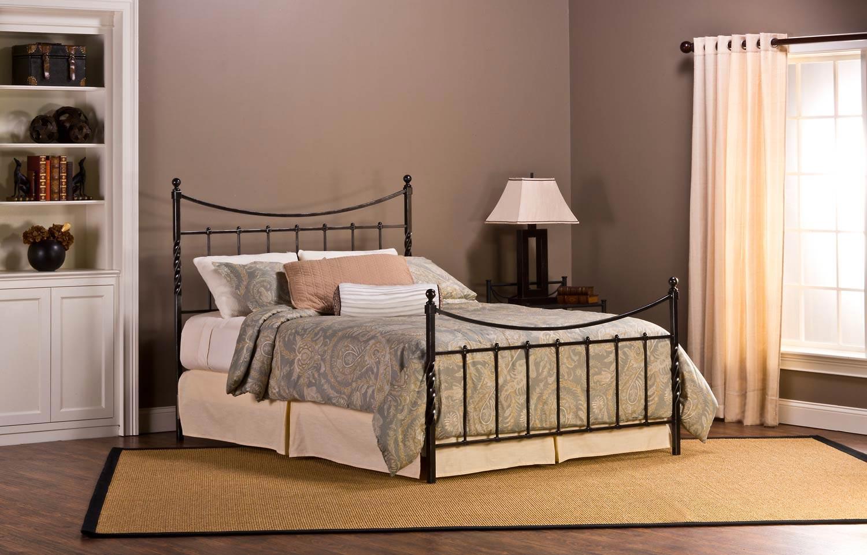 Hillsdale Sebastion Bed - Weathered Black 1161-BED
