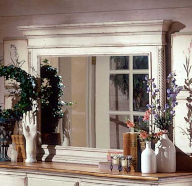 Hillsdale Wilshire Mirror - Antique White