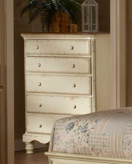 Hillsdale Wilshire Chest - Antique White